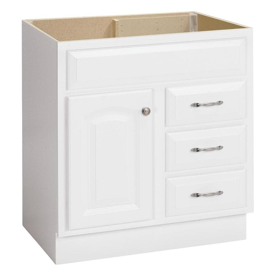 Project Source White 30-in Traditional Bathroom Vanity