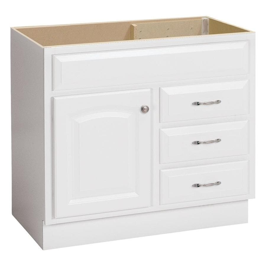 Shop project source white bathroom vanity common 36 in x for Bath vanities with tops
