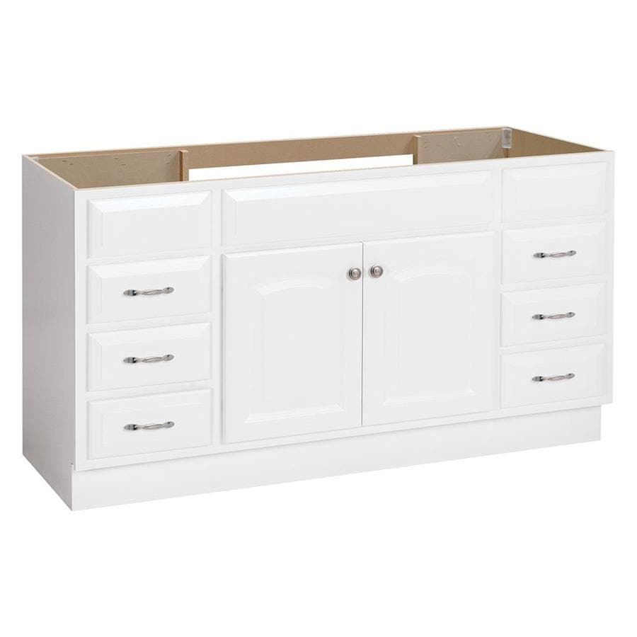 Project Source White Bathroom Vanity Common 60 In X 21 In Actual