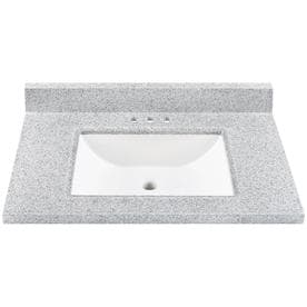 Miraculous Us Marble 37 In Steel Gray On White Cultured Marble Bathroom Download Free Architecture Designs Grimeyleaguecom