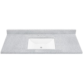 49 In Dune Solid Surface Single Sink Bathroom Vanity Top In The Bathroom Vanity Tops Department At Lowes Com