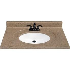 Kona Solid Surface Integral Single Sink Bathroom Vanity