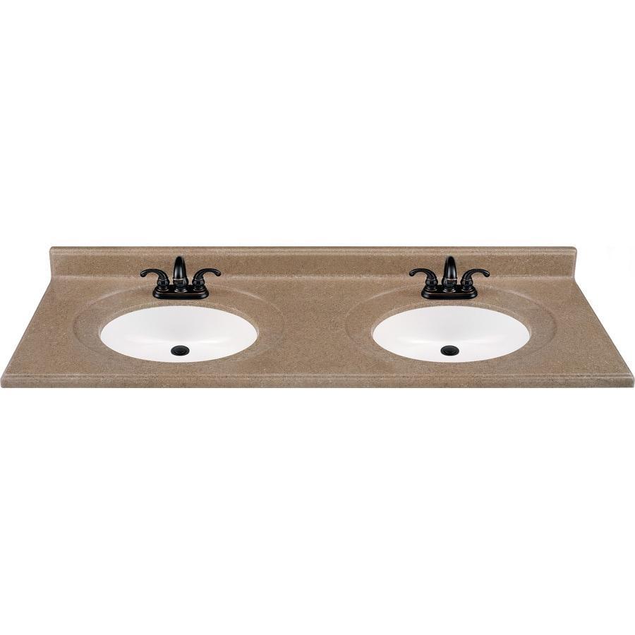Shop Kona Solid Surface Integral Double Sink Bathroom