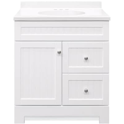 Style Selections Ellenbee 30 5-in White Single Sink Bathroom