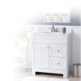 Shop Style Selections Ellenbee White Integral Single Sink ...