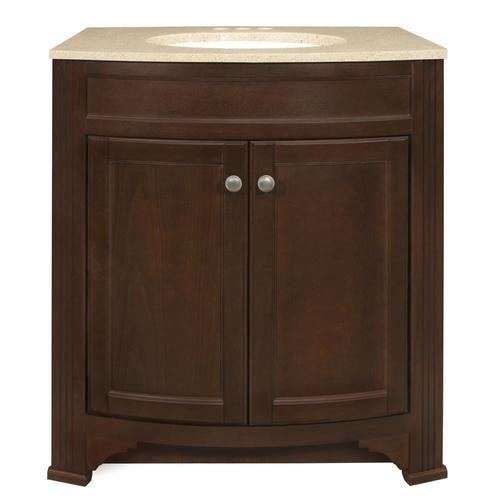 Style Selections Delyse 30 75 In Auburn Single Sink