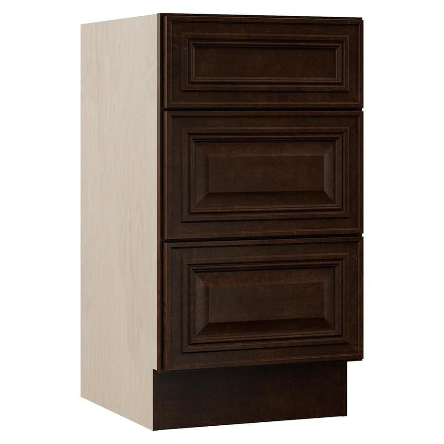 VILLA BATH by RSI Monroe 18-in W x 33.5-in H x 21.5-in D 3-Drawer Freestanding Cabinet Banks