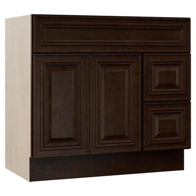 Monroe 36 In Java Bathroom Vanity Cabinet