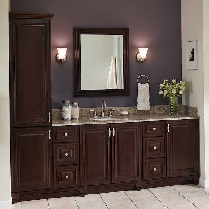 Villa Bath By Rsi Monroe 36 In Java Bathroom Vanity Cabinet In The Bathroom Vanities Without Tops Department At Lowes Com