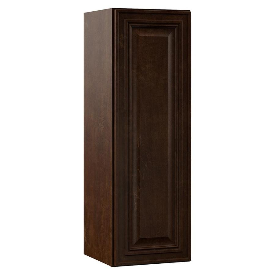 VILLA BATH by RSI Monroe 12-in W x 36-in H x 13-in D Java Bathroom Wall Cabinet