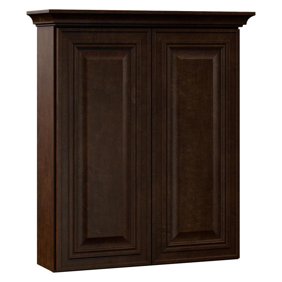 VILLA BATH by RSI Monroe 24-in W x 28.5-in H x 7.25-in D Java Bathroom Wall Cabinet
