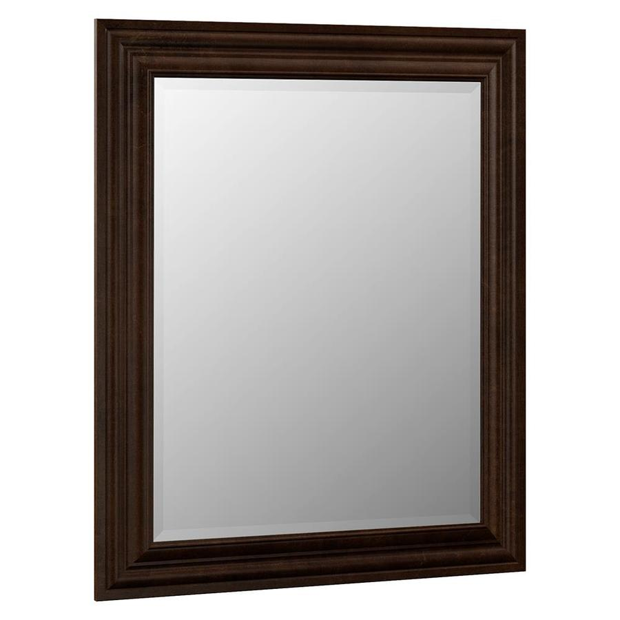 VILLA BATH by RSI Monroe 29-in W x 35.25-in H Java Rectangular Bathroom Mirror