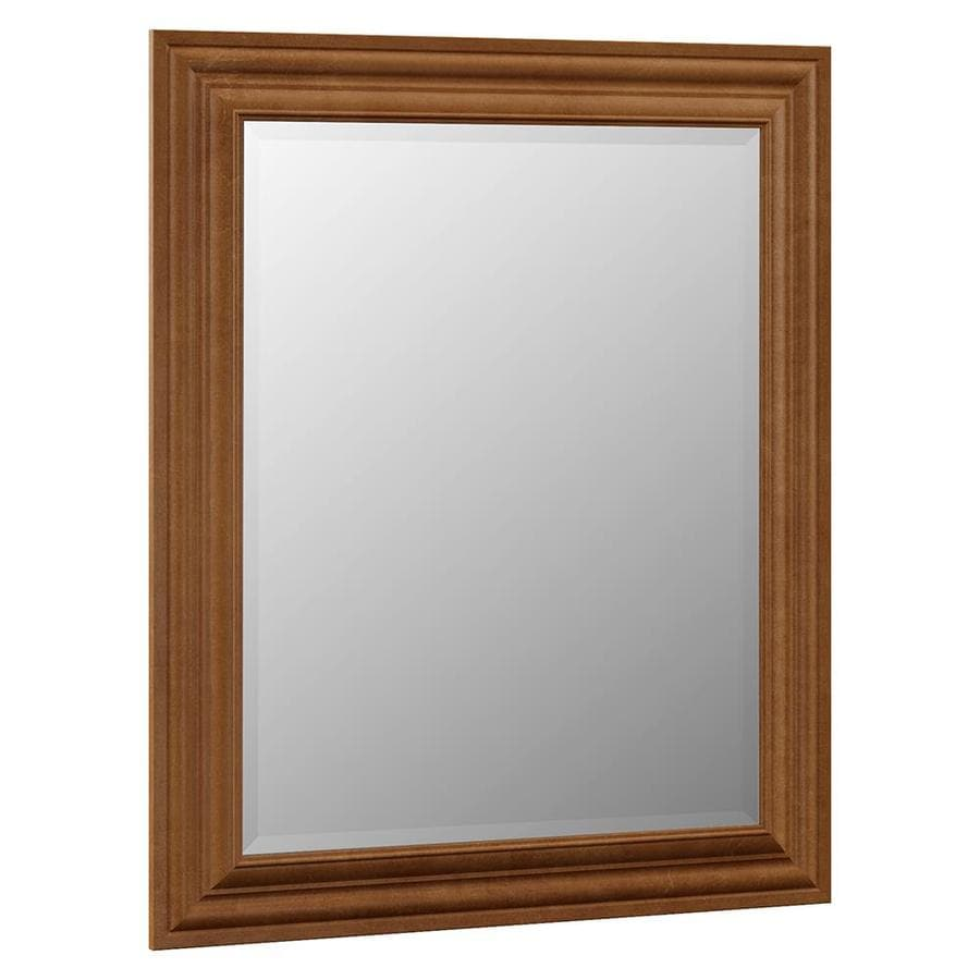 VILLA BATH by RSI Monroe 29-in W x 35.25-in H Canyon Rectangular Bathroom Mirror