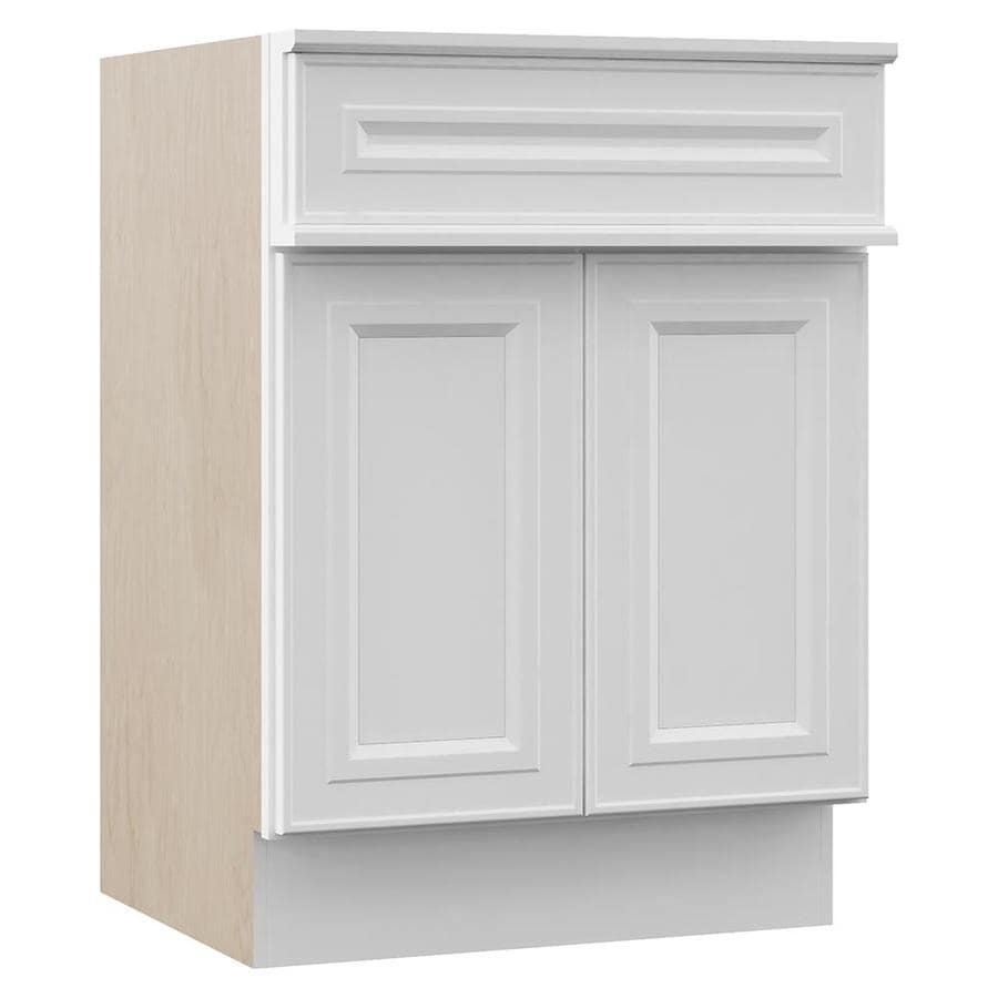 VILLA BATH by RSI Catalina White (Common: 24-in x 23-in) Traditional Bathroom Vanity (Actual: 24-in x 23-in)