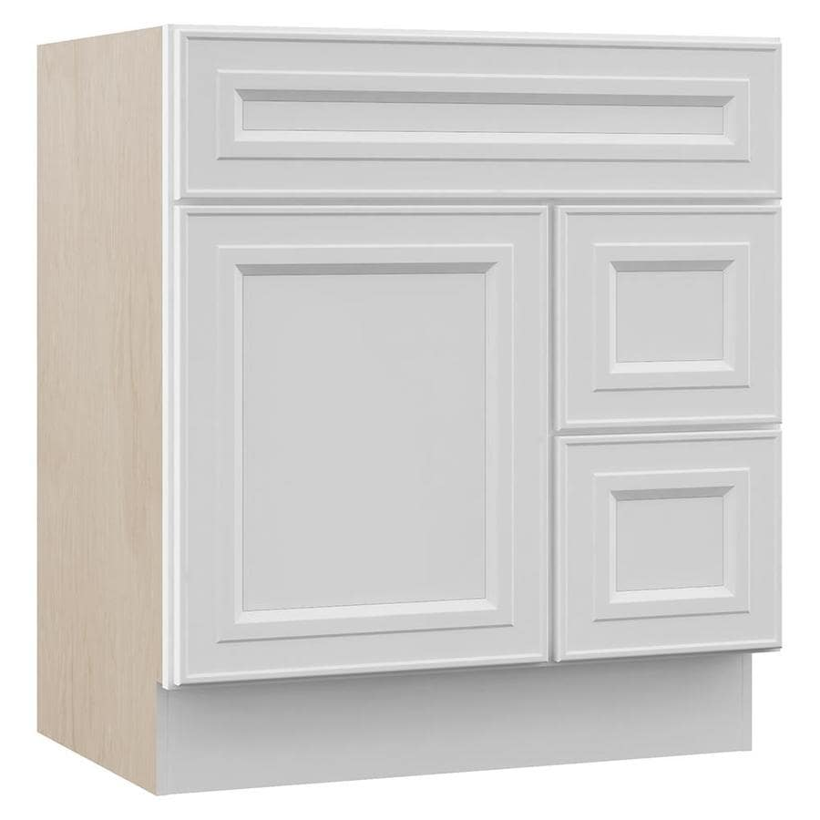 Shop Villa Bath By Rsi Catalifreestanding White Bathroom Vanity Common 30 In X 22 In Actual
