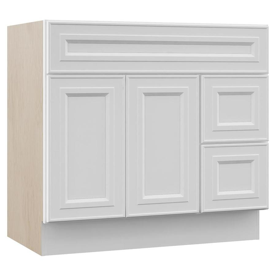 Shop VILLA BATH By RSI White Bathroom Vanity Common 36 In X 22 In Actual