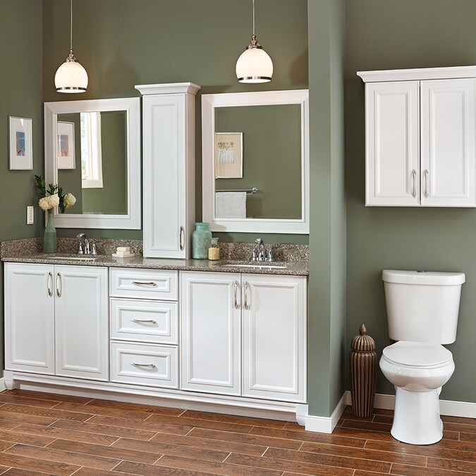 Villa Bath By Rsi Catalina 24 In W X 28 5 In H X 7 25 In D White Bathroom Wall Cabinet In The Bathroom Wall Cabinets Department At Lowes Com