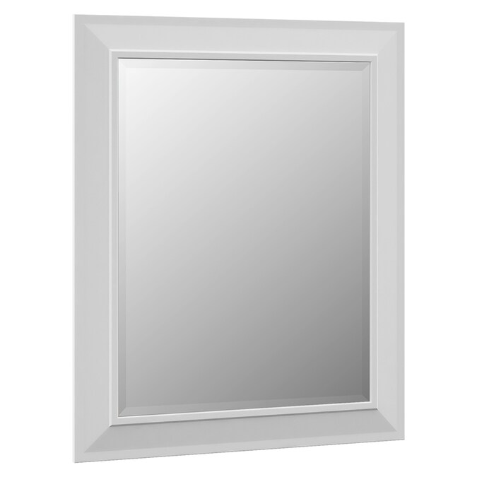 Villa Bath By Rsi 29 In White Rectangular Bathroom Mirror In The Bathroom Mirrors Department At Lowes Com