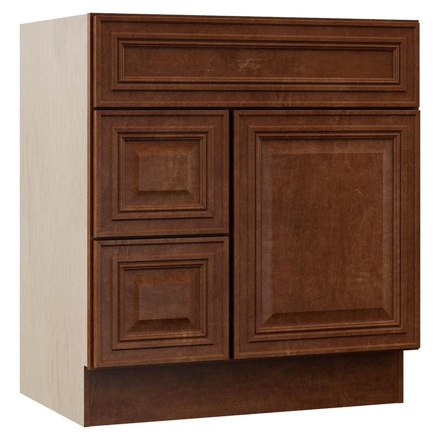 VILLA BATH by RSI Cognac Bathroom Vanity (Common: 30-in x 22-in; Actual: 30-in x 21.5-in)
