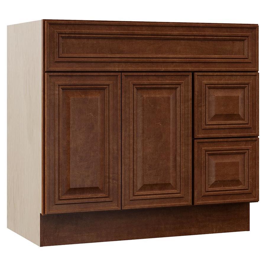 VILLA BATH by RSI Cognac Bathroom Vanity (Common: 36-in x 22-in; Actual: 36-in x 21.5-in)