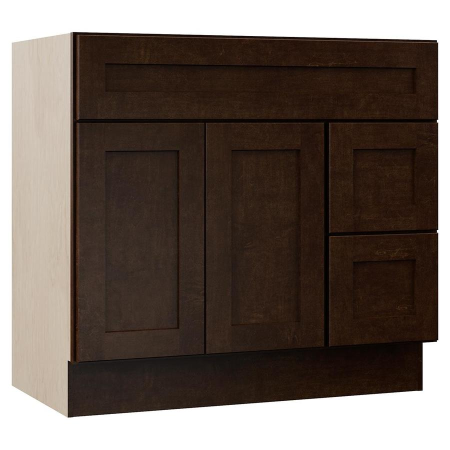 VILLA BATH by RSI Sanabelle Java (Common: 36-in x 22-in) Transitional Bathroom Vanity (Actual: 36-in x 21.5-in)