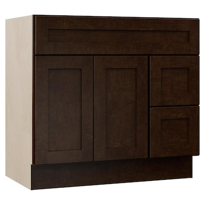 Sanabelle 36 In Java Bathroom Vanity Cabinet