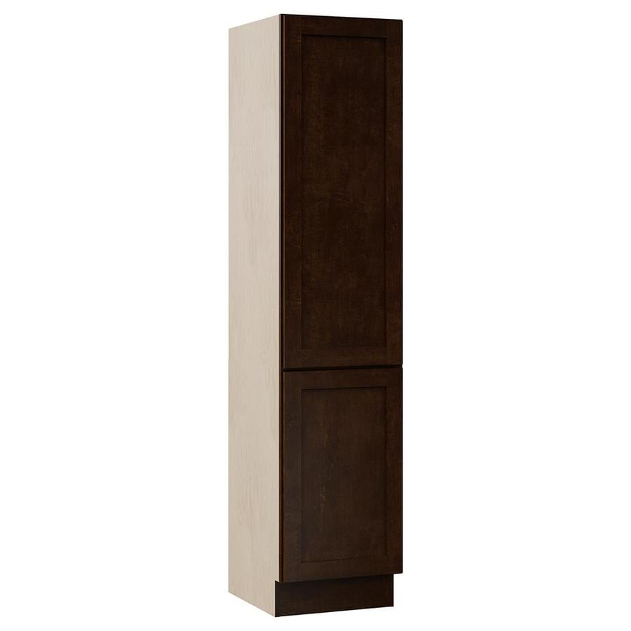 VILLA BATH by RSI Sanabelle 18-in W x 81-in H x 21.5-in D Java Plywood Wall-Mount Linen Cabinet