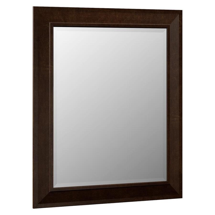 Villa Bath By Rsi 29 In X 35 25 In Java Rectangular Framed Bathroom Mirror