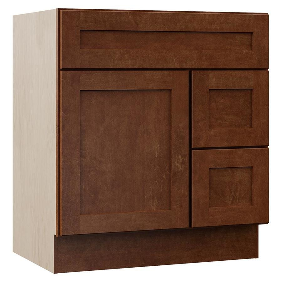 VILLA BATH by RSI Sanabelle Cognac 30-in Transitional Bathroom Vanity
