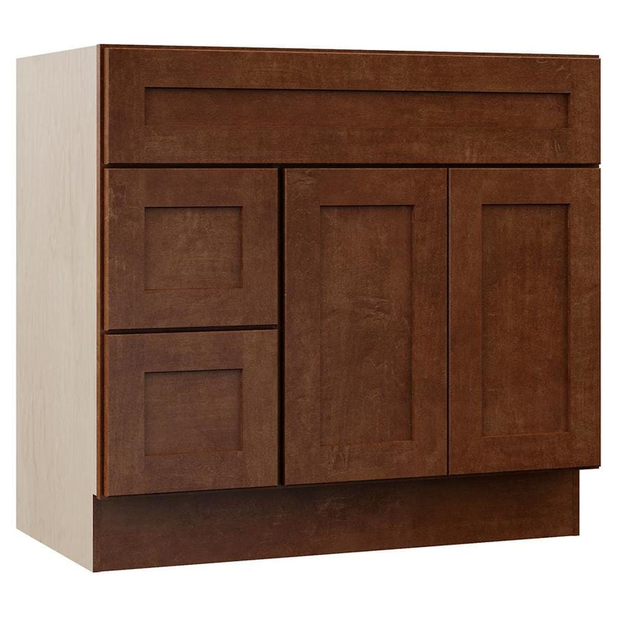 VILLA BATH by RSI Sanabelle Cognac Bathroom Vanity (Common: 36-in x 22-in; Actual: 36-in x 21.5-in)