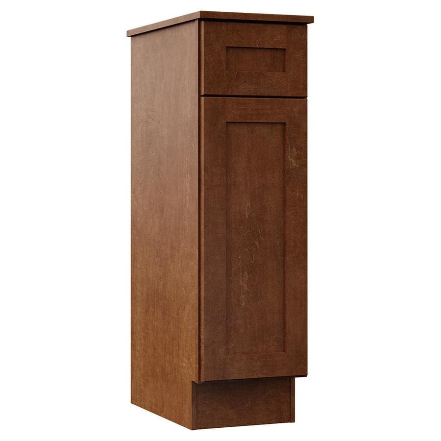 VILLA BATH by RSI Sanabelle 12-in W x 41.75-in H x 21.5-in D Cognac Plywood Wall-mount Linen Cabinet