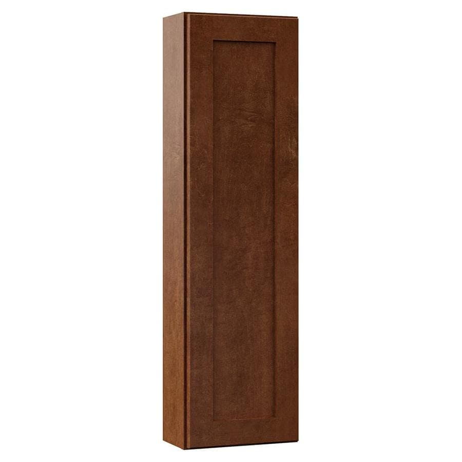 VILLA BATH by RSI Sanabelle 12-in W x 42-in H x 7.25-in D Cognac Bathroom Wall Cabinet