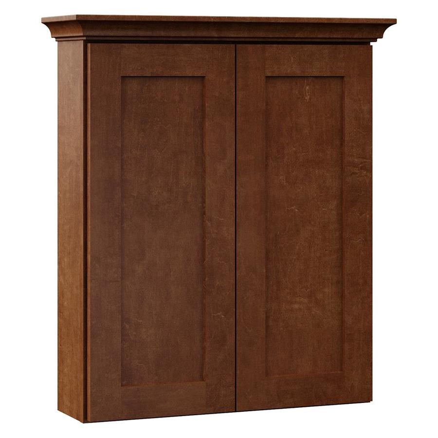 VILLA BATH by RSI Sanabelle 24-in W x 28.5-in H x 7.25-in D Cognac Bathroom Wall Cabinet