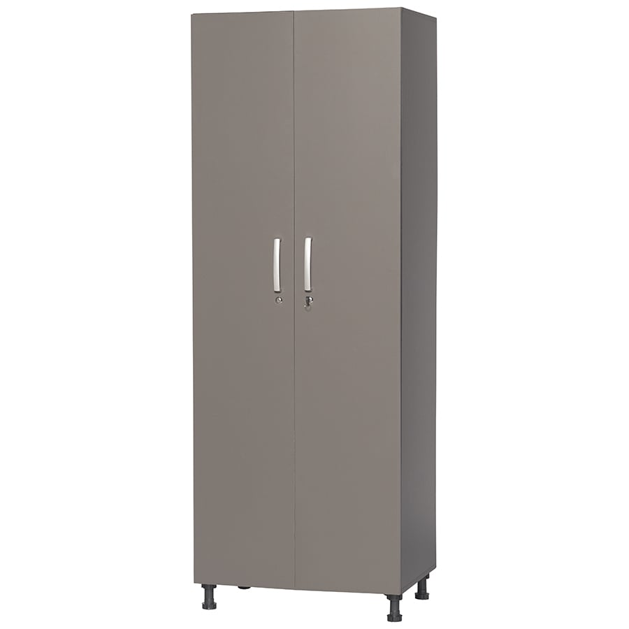 Blue Hawk 27-in W x 75.5-in H x 18.75-in D Wood Composite Freestanding Garage Cabinet
