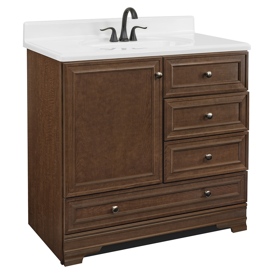 Shop project source bark traditional bathroom vanity for Bathroom 36 vanities