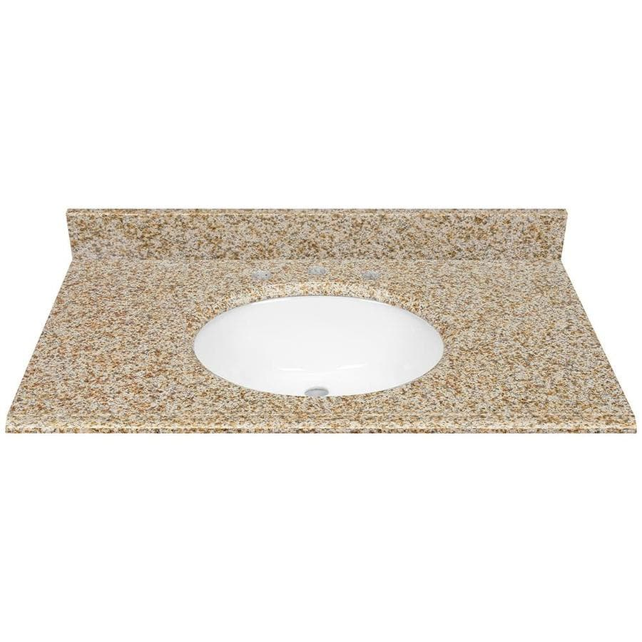 Bathroom Vanity 37 X 22 shop desert gold granite undermount bathroom vanity top (common