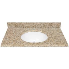 Desert Gold Granite Undermount Bathroom Vanity Top Common 37 In X 22