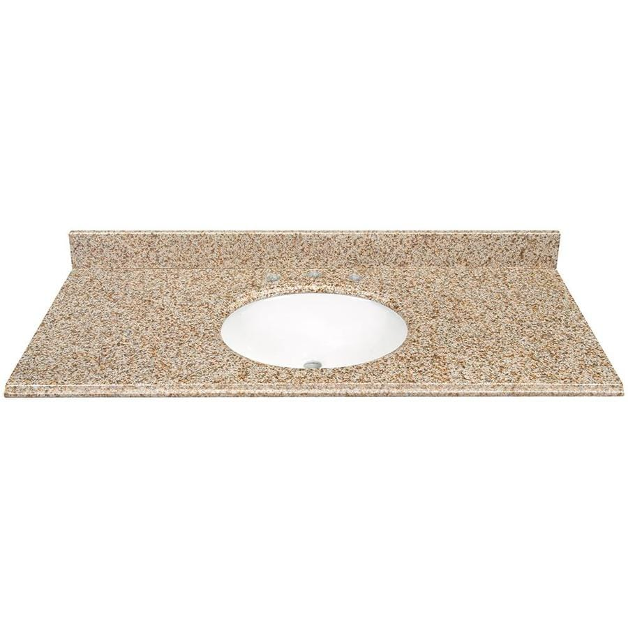 Desert Gold Granite Undermount Bathroom Vanity Top (Common: 49 In X 22