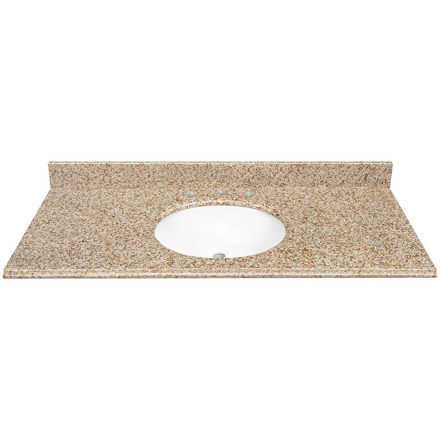 Desert Gold Granite Undermount Bathroom Vanity Top  Bathroom Vanity Tops