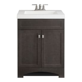 Style Selections Drayden 24 5 In Heirloom Single Sink Bathroom Vanity With White Cultured Marble