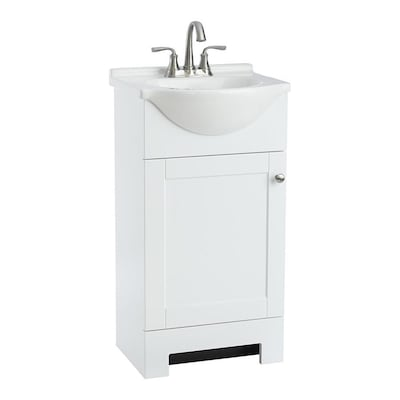 Style Selections Euro 19-in White Single Sink Bathroom