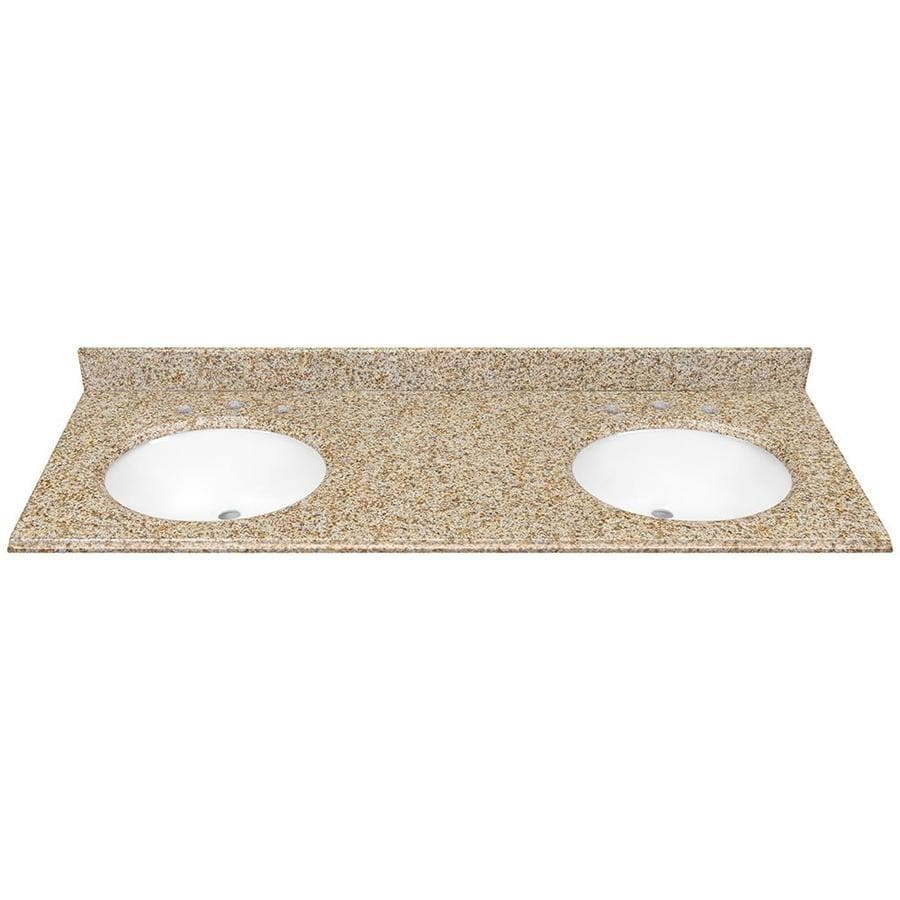 Undermount Bathroom Sink With Granite shop desert gold granite undermount bathroom vanity top (common