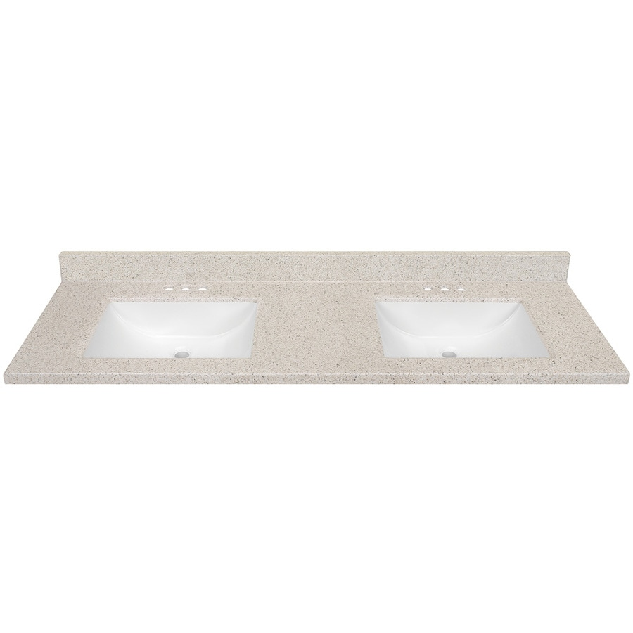 dune solid surface integral bathroom vanity top common 61 in x 22 - Lowes Bathroom Vanity Tops