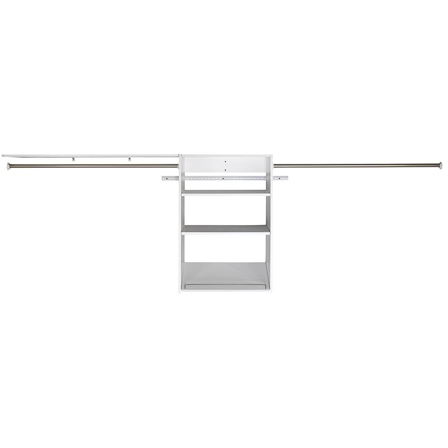 ESTATE by RSI 9.5-ft x 3-ft White Wood Closet Kit