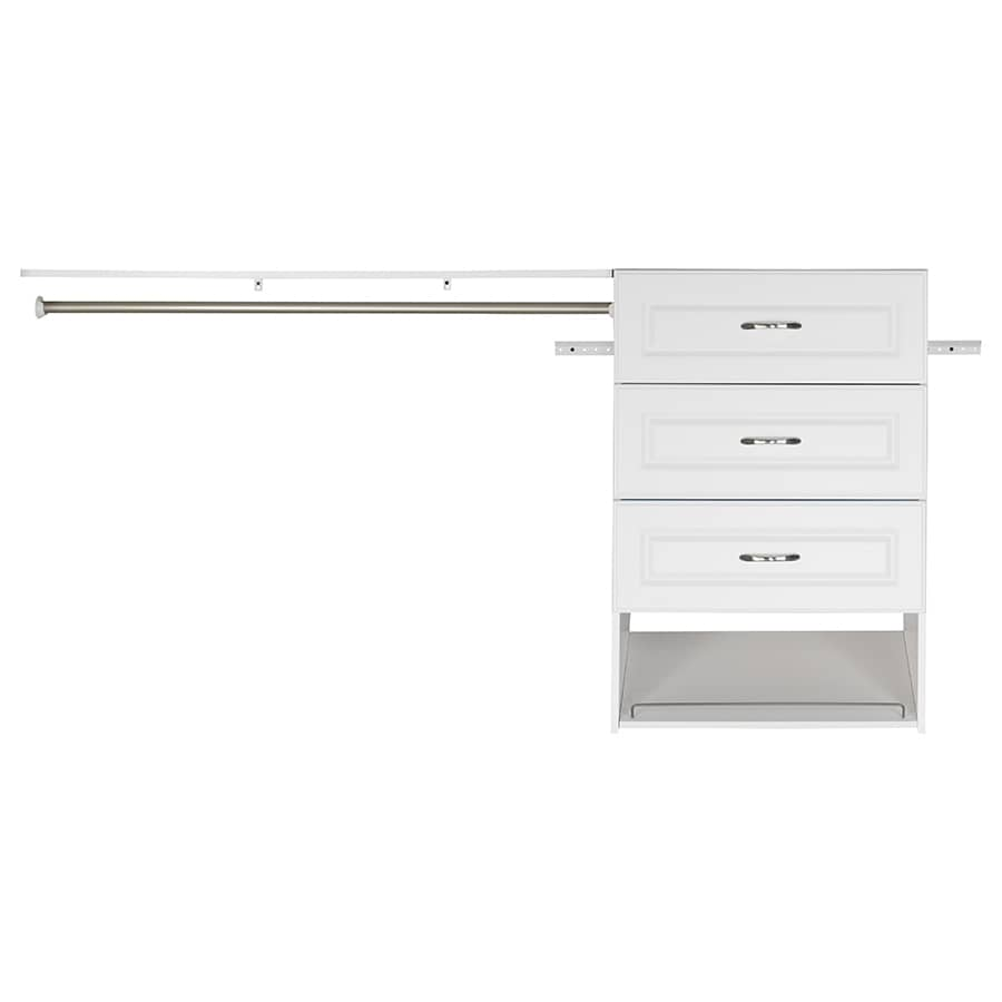 ESTATE By RSI 9.5 Ft X 3 Ft White Wood Closet Kit