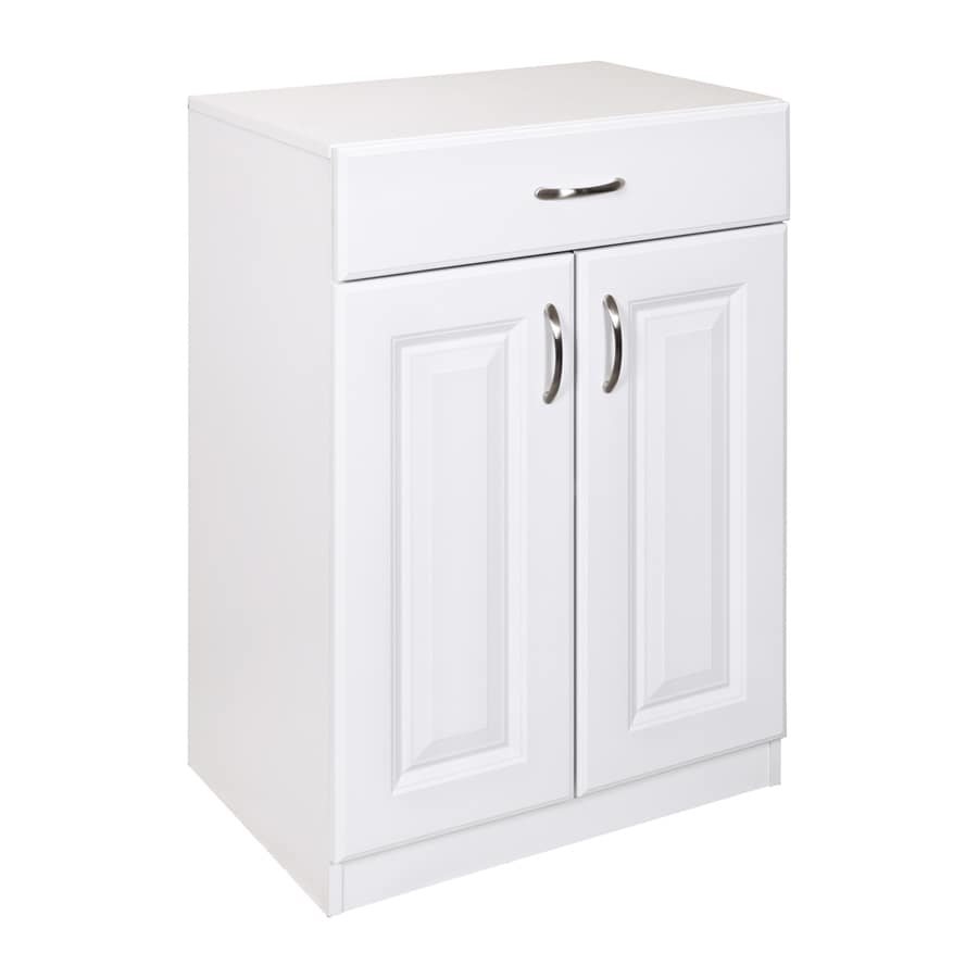 white utility cabinets shop estate by rsi 23 75 in w x 34 5 in h x 16 5 in d wood 29163