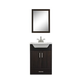 Shop Fontaine Wenge Integrated Single Sink Bathroom Vanity