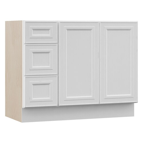 Catalina 42-in White Bathroom Vanity Cabinet
