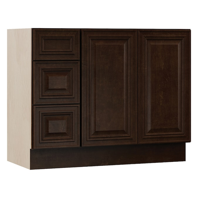 Villa Bath By Rsi Monroe 42 In Java Bathroom Vanity Cabinet In The Bathroom Vanities Without Tops Department At Lowes Com