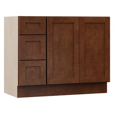 Sanabelle 42-in Cognac Bathroom Vanity Cabinet